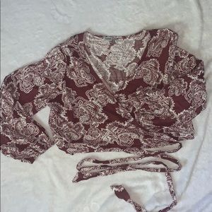 Charlotte Russe Wrap Around Long Sleeve